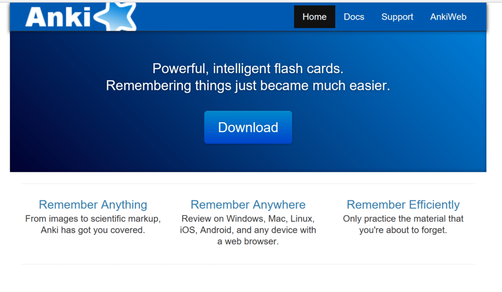 Anki helps save time by digitizing flashcards for studying