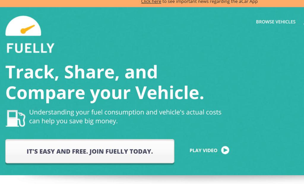 Track your fuel efficiently with Fuelly