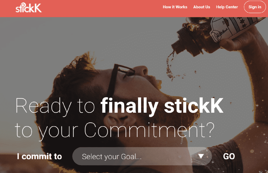 Stickk Website as Top Productivity Website