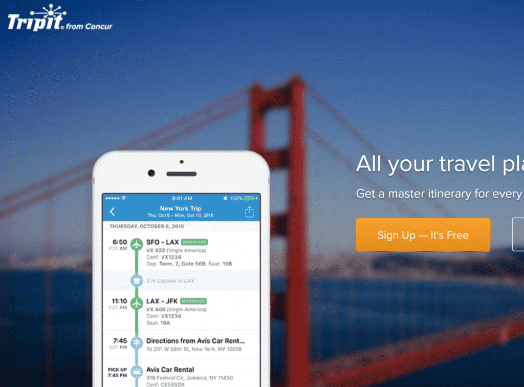 Use TripIt to combine all travel plans into a single portal